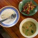 Green Curry made on a cooking course in Chiang Mai