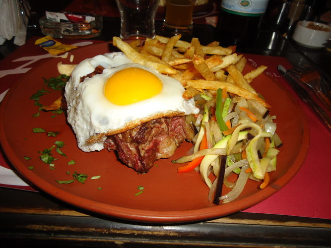5cm thick Bife de Chorizo in Mendoza, Argentina.