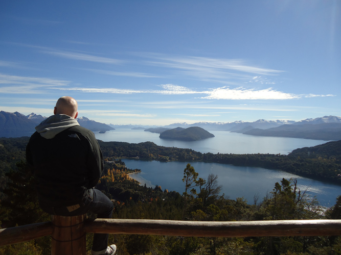 The view of Bariloche, breathtaking.